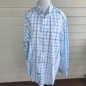 Vineyard Vines  Blue Check Long Sleeve Dress Shirt